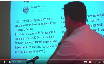 marketing educativo: vídeo entrada. Resumen conferencia Valladolid