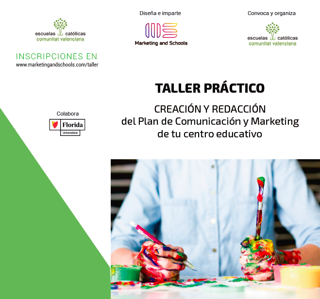 DIPTICO TALLER PLAN MARKETING EDUCATIVO