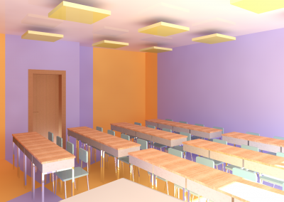 Vista 3D propuesta aula infantil